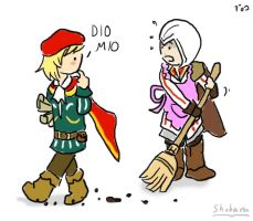 Ezio the homemaker by iguanablogger