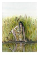 The Water Thief - original painting by artybel