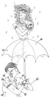 the umbrella girl, by chokemarydirt