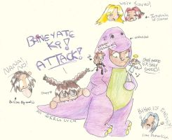 Attack of the Barney by yeslek