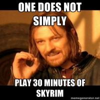 Boromir's thoughts on Skyrim by Stormbadger