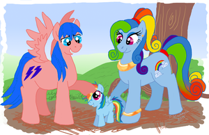 Rainbow Dash Has Two Mommies by bibliodragon