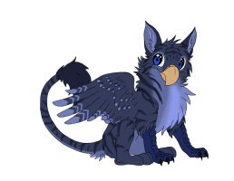 Blue Tiger Gryphon by Mushitora