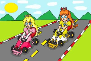 classic kart race by ninpeachlover