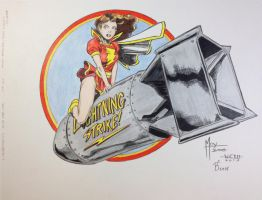 Bombshells!-Mary Marvel-Moy-elgie- Joey Colored by SSGJoey