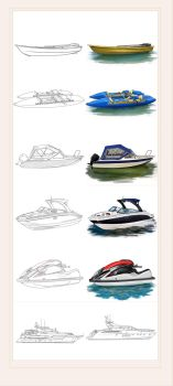Boats from concept to color by Konsuello