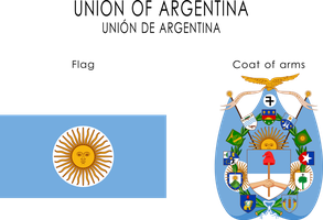 Union of Argentina arms and flag by SoaringAven