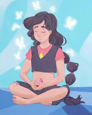 Stevonnie here comes a thought by Bright-Eye