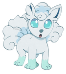 Alolan Vulpix by Fishlover