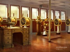 Wheel house of Titanic by novtilus
