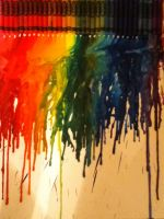 Rainbow Melted Crayon Project by Yinlizzy