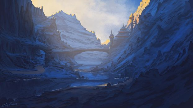 Valley Fortress by Chillay