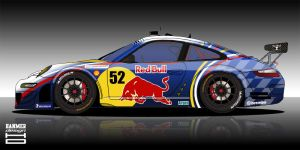 Red Bull Porsche GT2 by hanmer