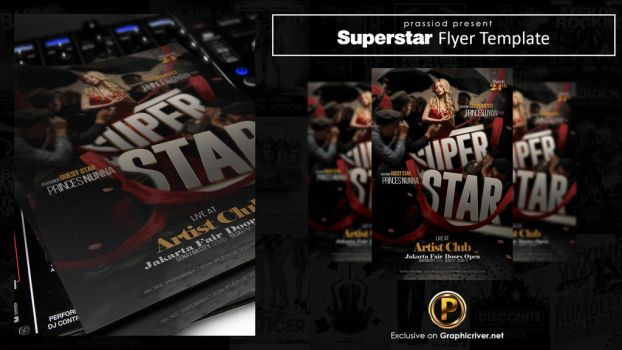 Superstar Flyer Template by prassetyo