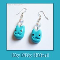 Earrings - Itty Bitty Kitties by SCCreations