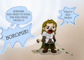 LOTR: Boromir And The Ring by Schwarzer-Efeu