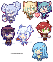 Sticker Chibis V2 by arcanium