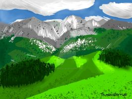 Mountain landscape by Thunderstorm26