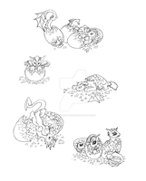 Drat Hatchlings sketch by Aniseth-LightWing
