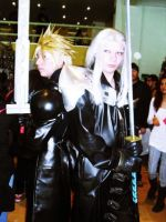 Cloud and Sephiroth by cerezosdecamus