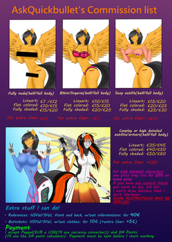 Commission list and info by AskQuickBullet