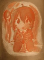 Still Life of Anime Plush and Spoon by InkySketch