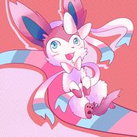 that pink eevee by cheerubi