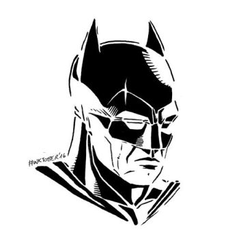 Inktober 2016, Day 21: Batman by spacehamster