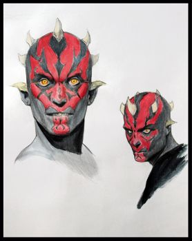 Darth Maul sketches by Icecoldart