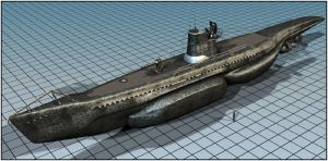 Experimental attack sub by RobertFriis