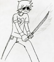 Scott Pilgrim Drawing WIP by Shadow-Industries