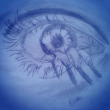 CreepArt-the eye by Fiona-theartist