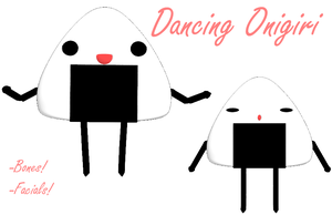 MMD- Dancing Onigiri -DL by MMDFakewings18