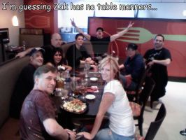 Zak has no table manners... by MJandGhostAdventures