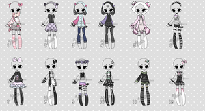 set price 3$ Outfit adoptables2  CLOSED (0/12) by Hunibi
