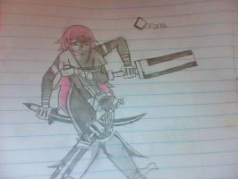 The Demon swords user Chrona by Hewhouseice