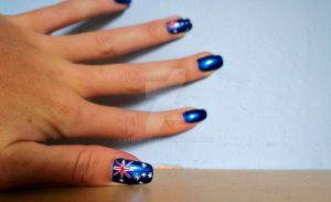 Australia Olympic Nails by Sydney0007
