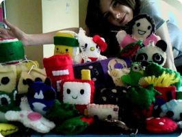 A sea of plushies x3 by Tammyyy