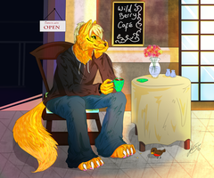 COMM: Coffee Shop by XxBattleLionessxX