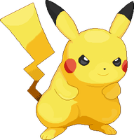 Angry Pikachu by pencilsymbiosis