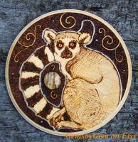 Lemur and Picture Jasper Plaque by BumbleBeeFairy