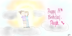 Aliyah's Birthday Drawing by Madisooooooooooooon