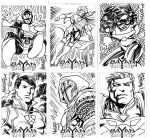 Bayan Knights sketchcards25-30 by gammaknight