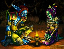 Downtime Trolls by thrivis
