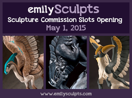 Commission Slots Opening May 1 by emilySculpts