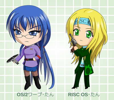 Chibi OS2 and RISC OS by C-quel