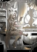 Brewing : monochrome by bakki