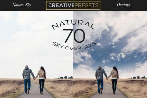 70 Natural Sky Overlays by CreativePresets
