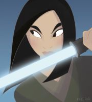 Mulan the Jedi by raziink