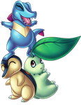 A Stack of Starters: Johto Edition by WorrySeed